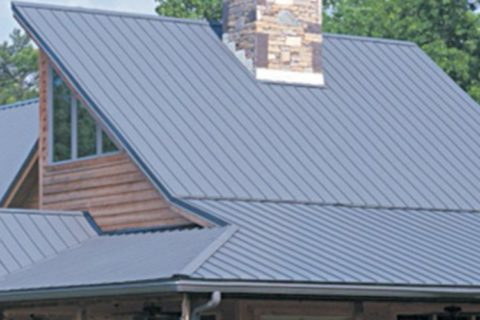 Blue roofing at Reurink Roofing & Siding Sales