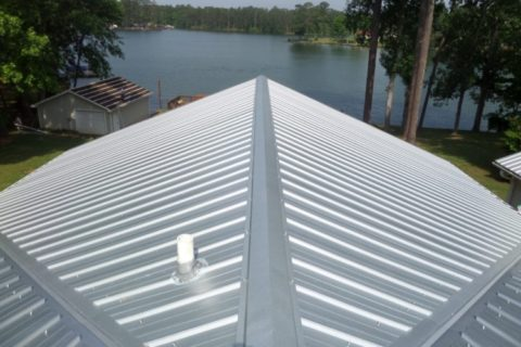 Silver roofing at Reurink Roofing & Siding Sales